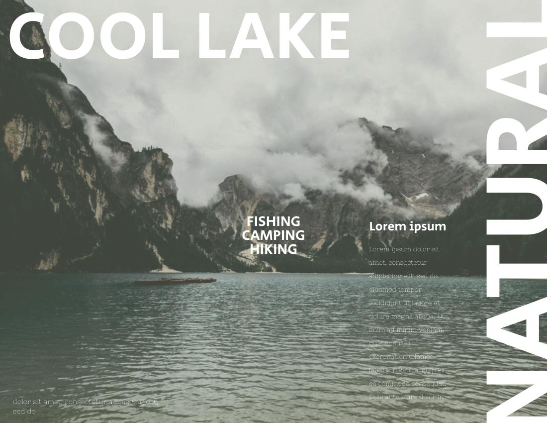 Brochure template: Lake View Brochure (Created by InfoART's Brochure maker)