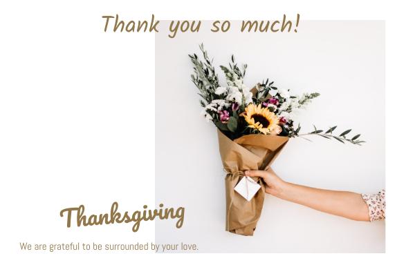 Flower Thanksgiving Greeting Card