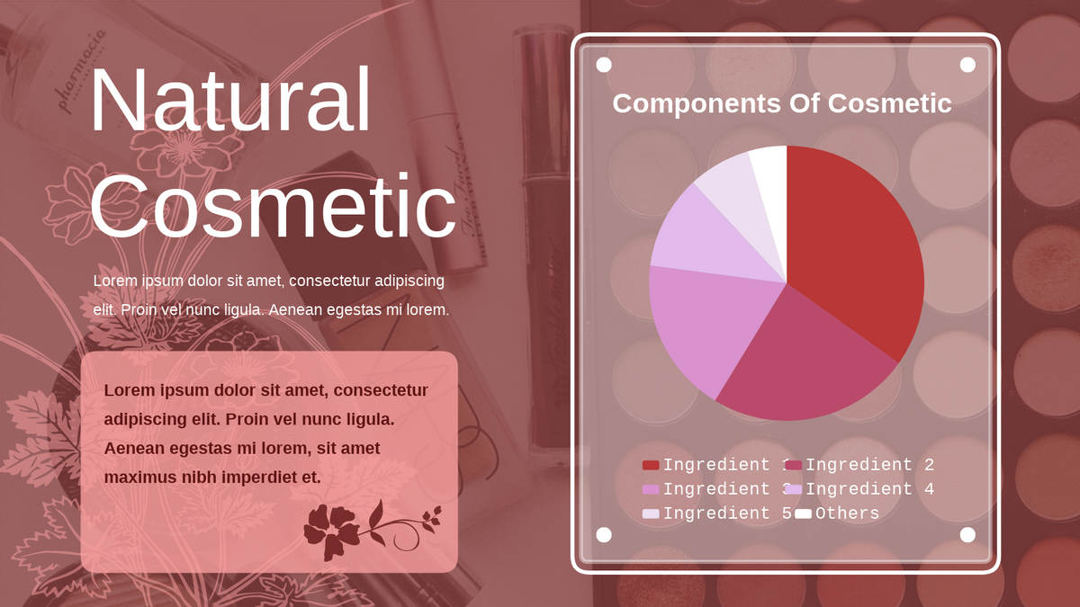 Pie Chart template: Natural Cosmetic Pie Chart (Created by Chart's Pie Chart maker)