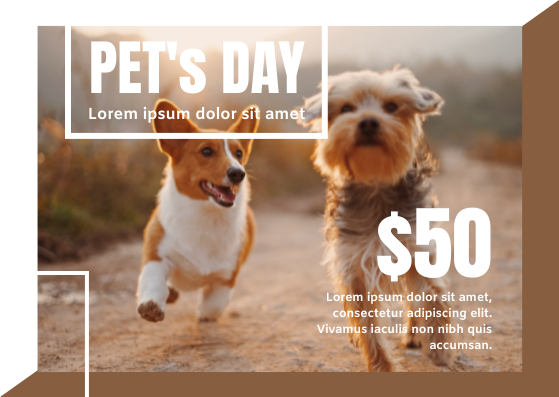 Gift Card template: Pet Shop Gift Card (Created by InfoART's Gift Card marker)