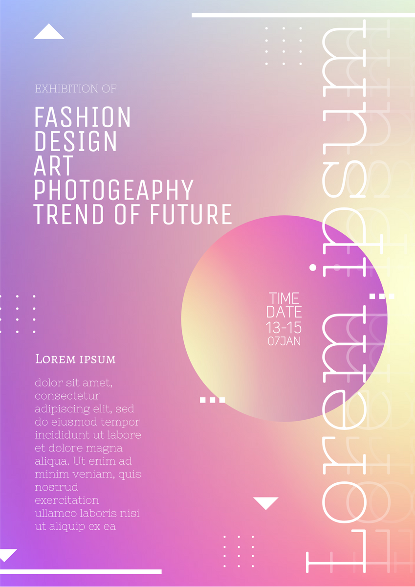 Poster template: Multi Theme Exhibition Poster (Created by InfoART's Poster maker)