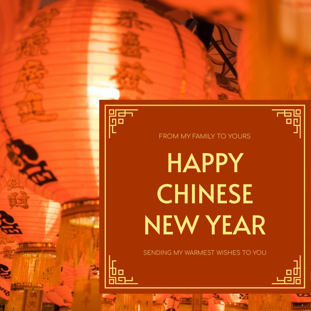 Instagram Post template: Red And Yellow Lunar New Year Instagram Post (Created by InfoART's Instagram Post maker)
