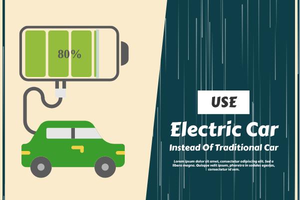 Transport template: Electric Car (Created by InfoChart's Transport maker)