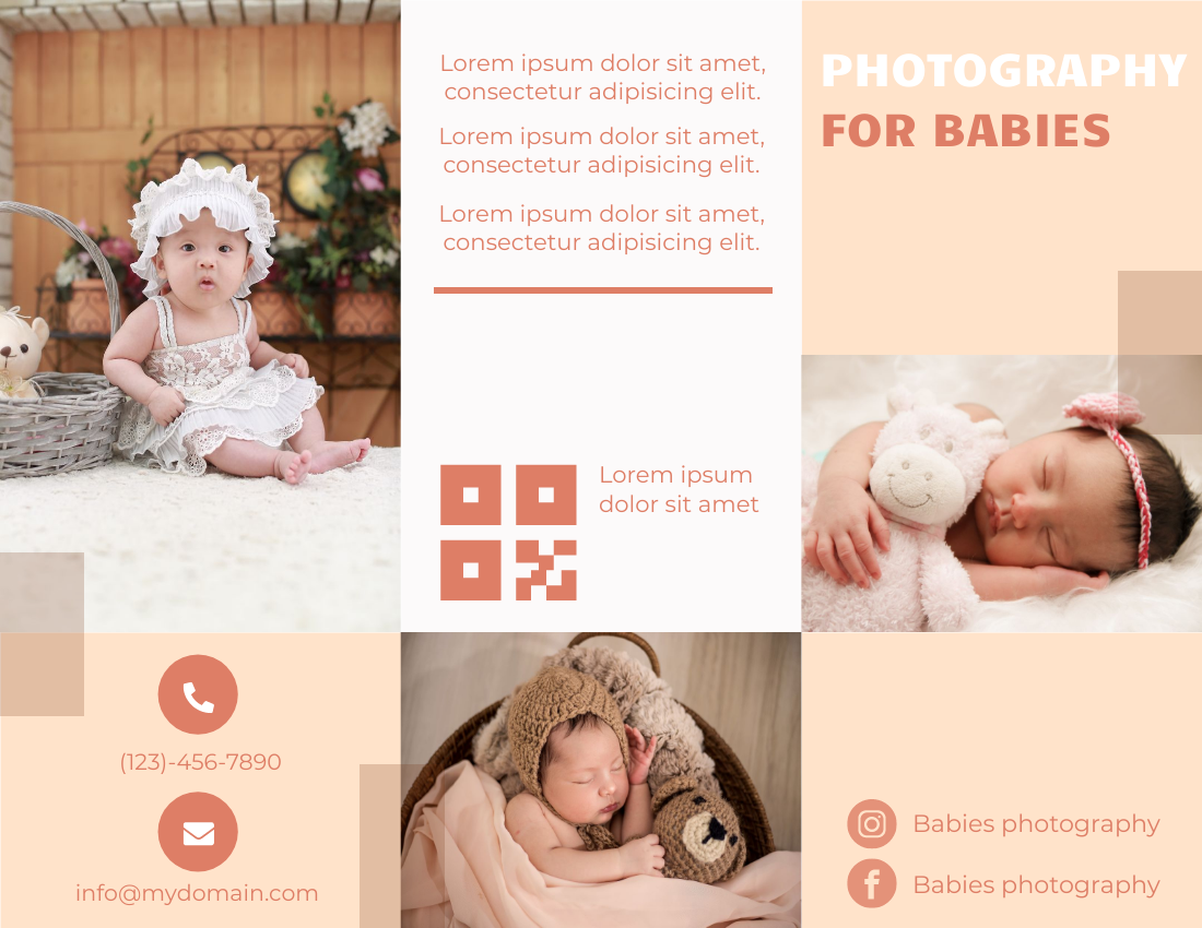 Baby photography brochure
