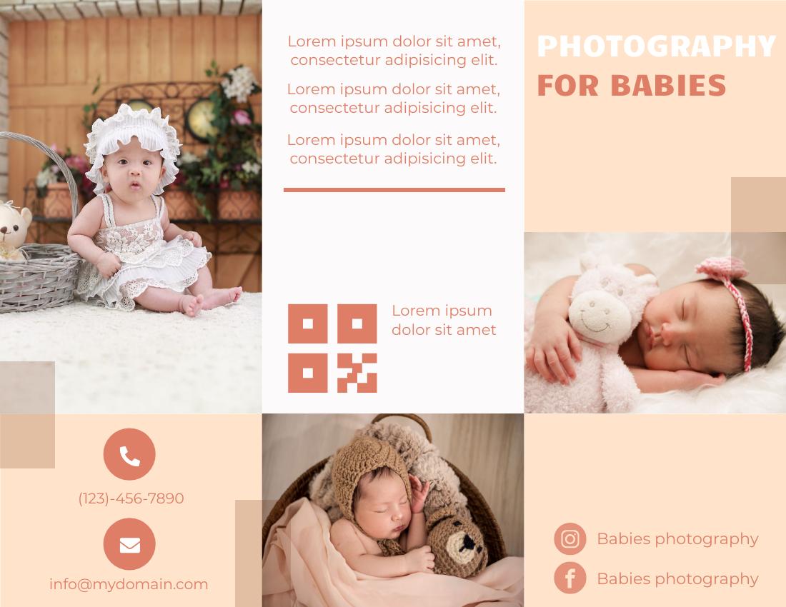 Brochure template: Baby Photography Brochure (Created by InfoART's Brochure marker)