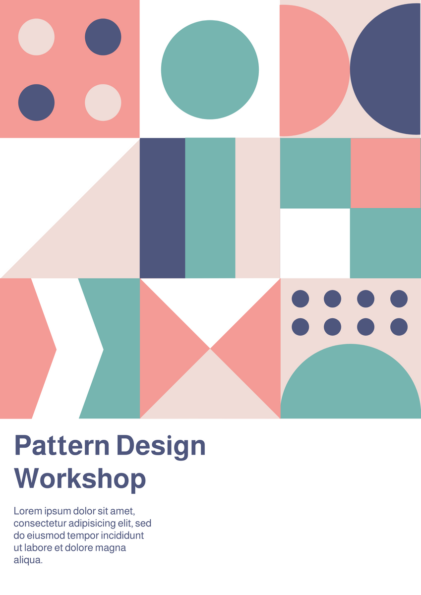 Poster template: Graphic Pattern Design Workshop Poster (Created by InfoART's Poster maker)