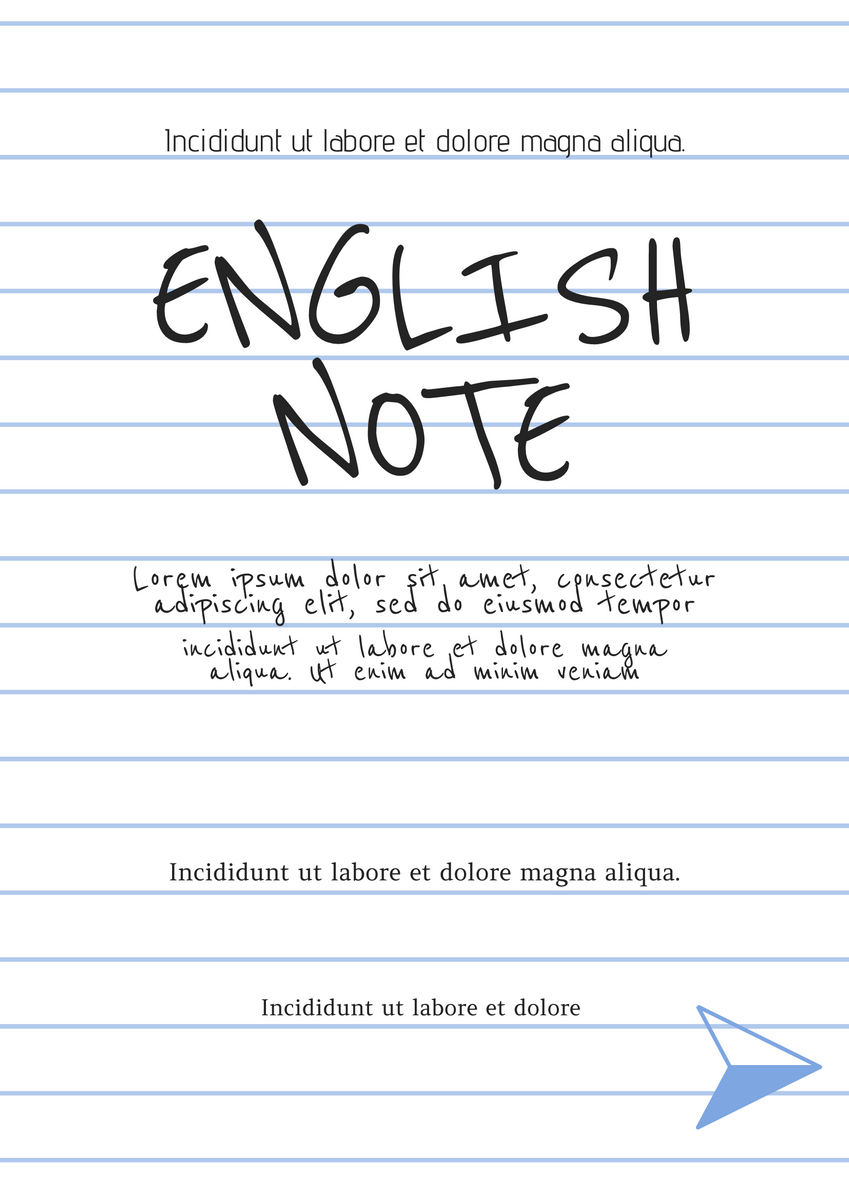 Poster template: English Note Poster (Created by InfoART's Poster marker)