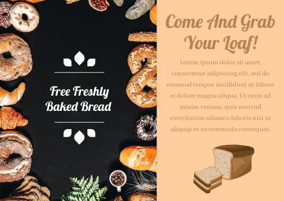 Gift Card template: Bread Gift Card (Created by InfoART's Gift Card marker)