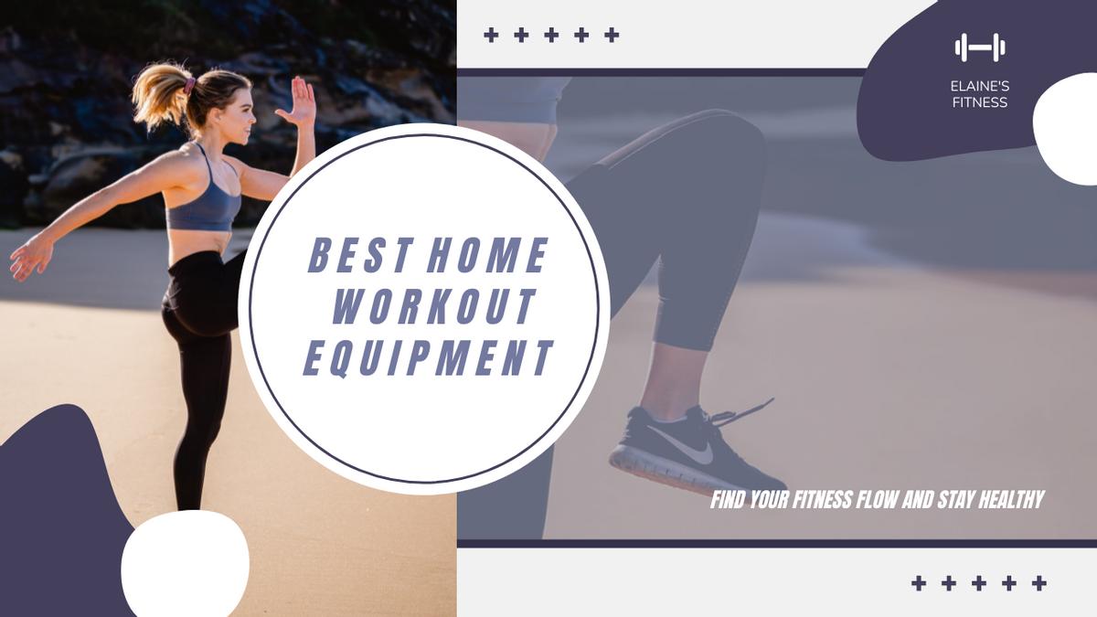 YouTube Thumbnail template: Purple Workout Photo Fitness Equipment YouTube Thumbnail (Created by InfoART's YouTube Thumbnail maker)