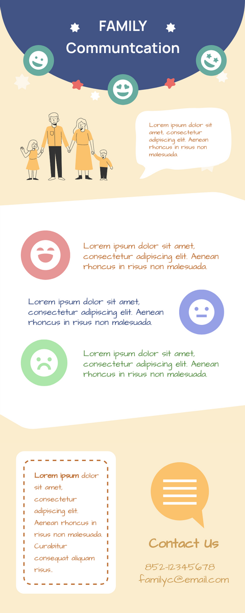 Infographic template: Family Communication Skills Infographic (Created by InfoART's Infographic maker)
