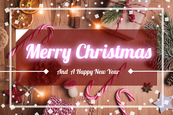 Greeting Card template: Photography Christmas Greeting Card (Created by InfoART's Greeting Card maker)