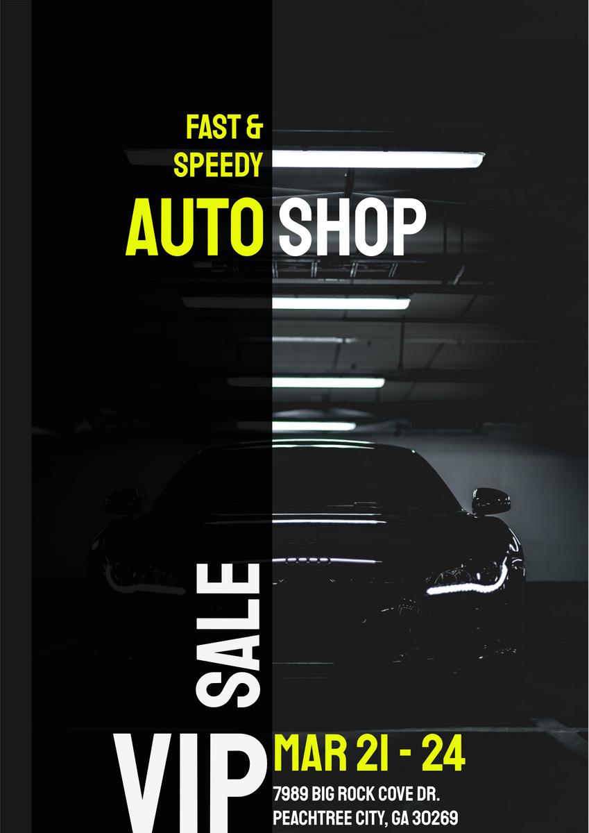 Auto Shop Sale