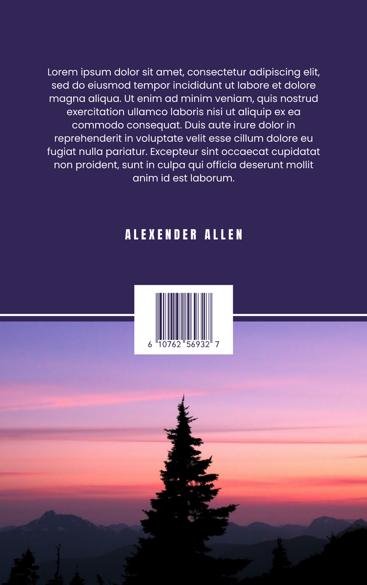 Book Cover template: Beautiful Night Sky Book Cover (Created by InfoART's Book Cover maker)
