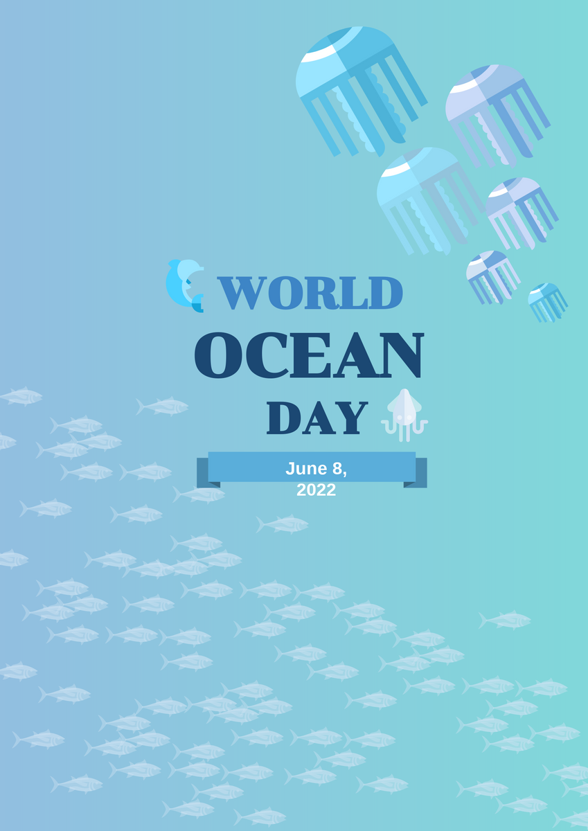 Poster template: world ocean day (Created by InfoART's Poster maker)