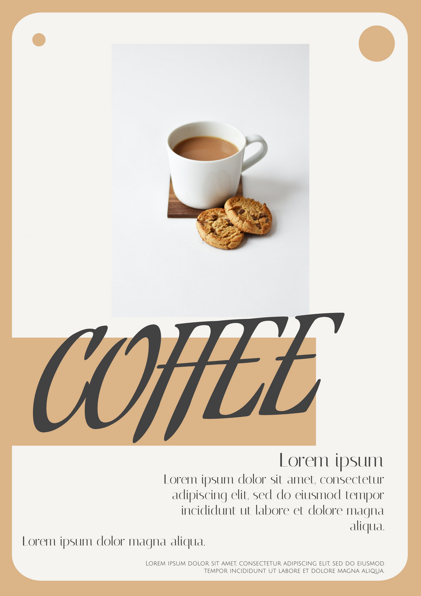 Poster template: Coffee Poster (Created by InfoART's Poster marker)
