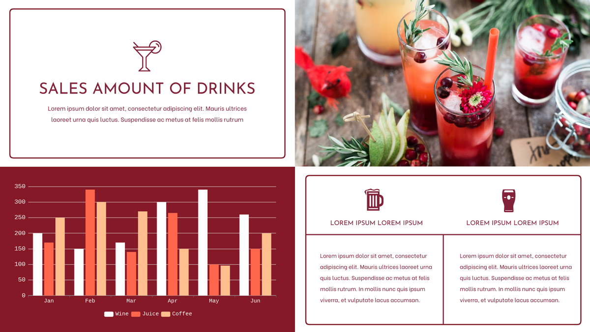Grouped Column Chart template: Sales Amount Of Drinks Grouped Column Chart (Created by Chart's Grouped Column Chart maker)