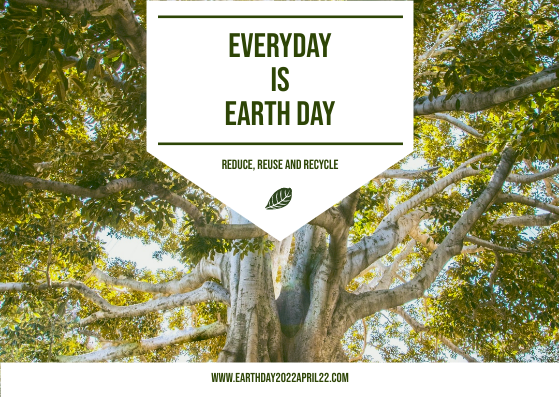 Postcard template: Green And White Trees Photo Earth Day Postcard (Created by InfoART's Postcard maker)