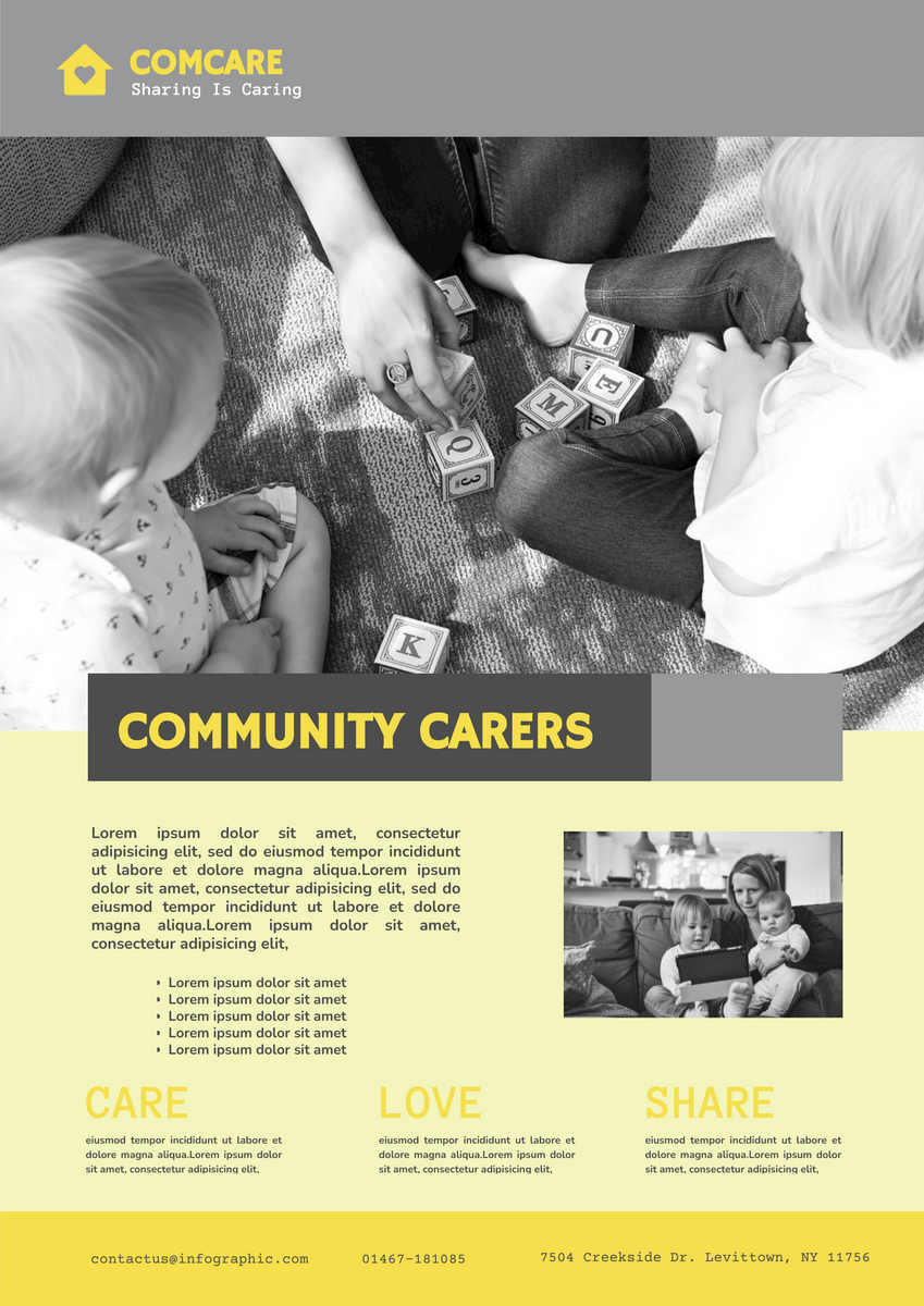 Poster template: Community Helper Charity Poster (Created by InfoART's Poster maker)