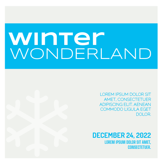 Invitation template: Winter Wonderland (Created by InfoART's Invitation marker)