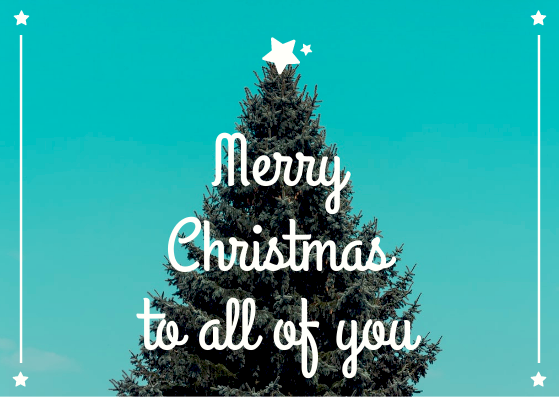 Postcard template: Merry Christmas To U Postcard (Created by InfoART's Postcard maker)