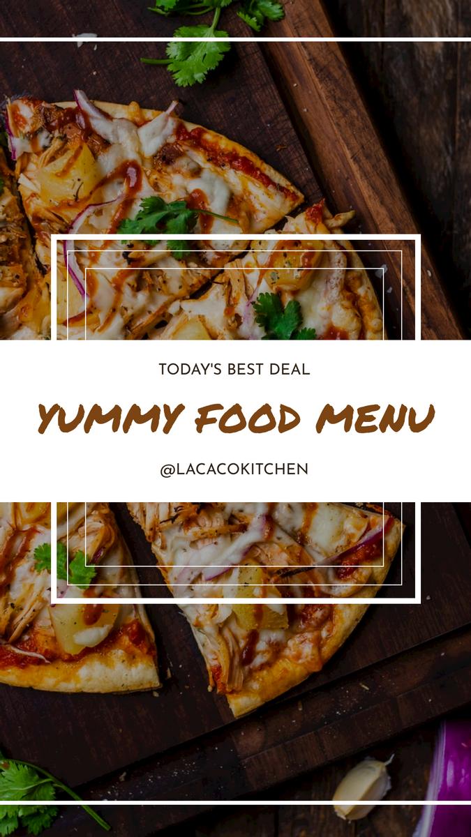 Instagram Story template: Yummy Food Menu Promotion Instagram Story (Created by InfoART's Instagram Story maker)