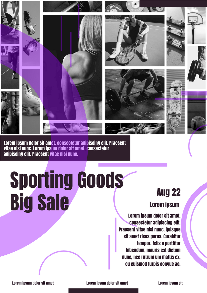Poster template: Sporting Goods Big Sale Poster (Created by InfoART's Poster maker)