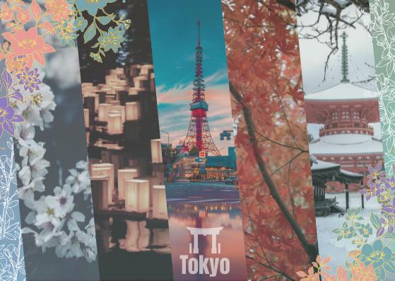 Postcard template: Tokyo Landscape Postcard (Created by InfoART's Postcard maker)