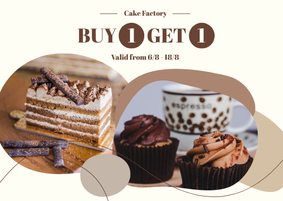 Gift Card template: Cake Factory Gift Card (Created by InfoART's Gift Card marker)