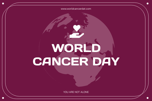 Greeting Card template: Purple Simple World Cancer Day Greeting Card (Created by InfoART's Greeting Card maker)