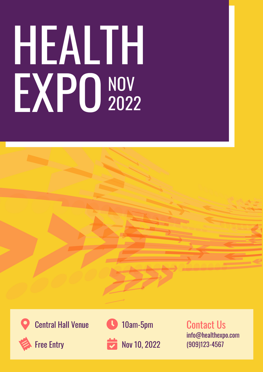 Poster template: Health Expo (Created by InfoART's Poster marker)