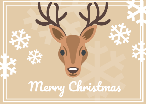 Post Card template: Christmas Post Card (Created by InfoART's Post Card marker)