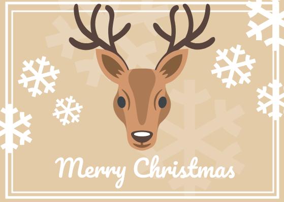 Postcard template: Christmas Postcard (Created by InfoART's Postcard maker)