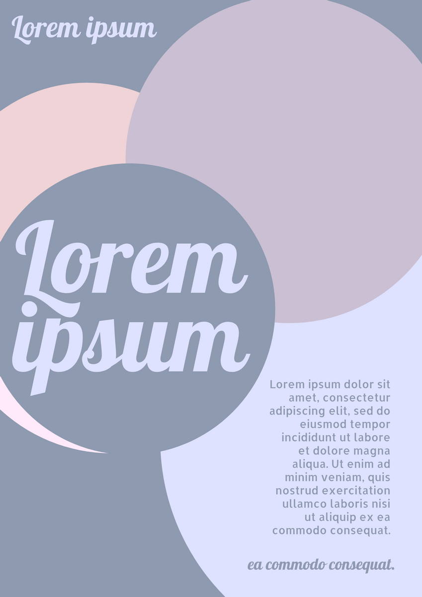 Poster template: Circular Artistic Poster (Created by InfoART's Poster maker)