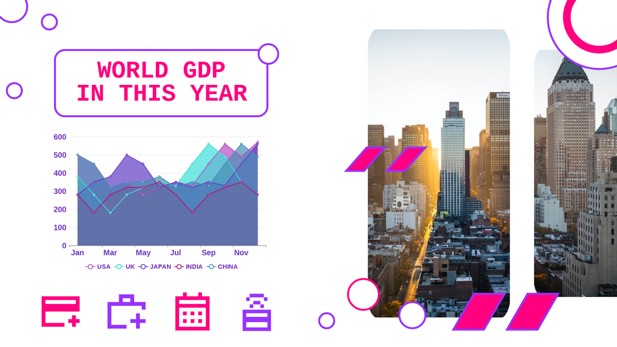 Area Chart template: World GDP Area Chart (Created by Chart's Area Chart maker)