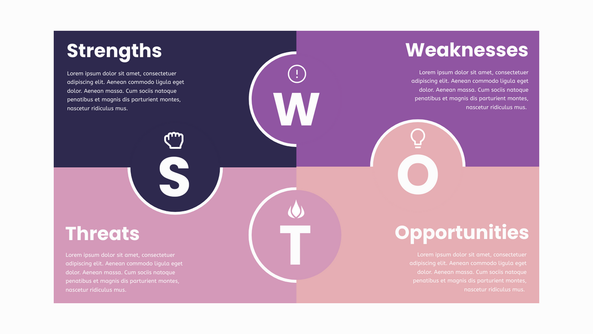 SWOT Analysis Matrix Infographics