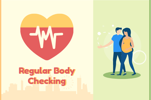 Medical template: Body Checking Heart Illustration (Created by InfoChart's Medical maker)