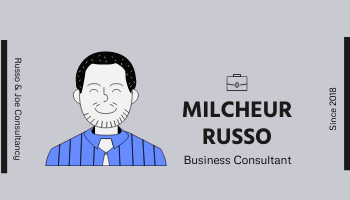 Business Card template: Modern Grey And Purple Business Consultant Card (Created by InfoART's Business Card maker)