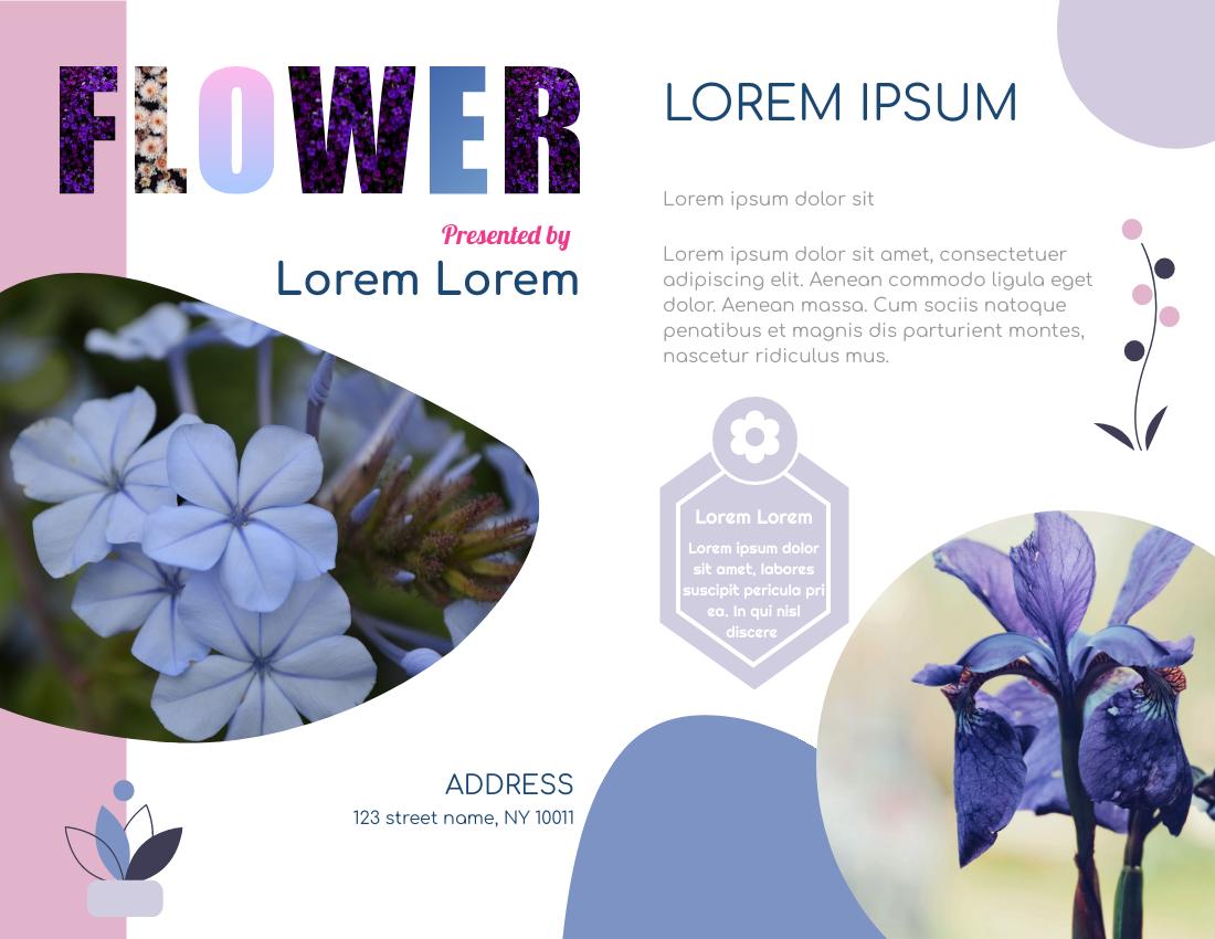 Brochure template: Flower Brochure (Created by InfoART's Brochure maker)