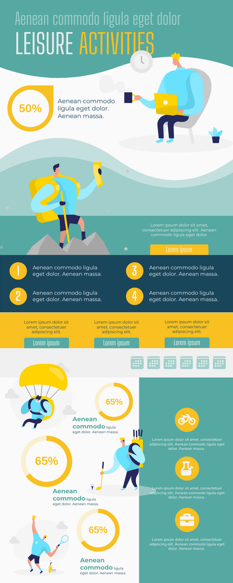 Infographic template: Infographic Introducing Leisure Activities (Created by InfoART's Infographic maker)