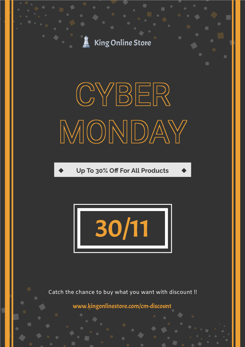 Flyer template: Cyber Monday Informative Flyer (Created by InfoART's Flyer maker)