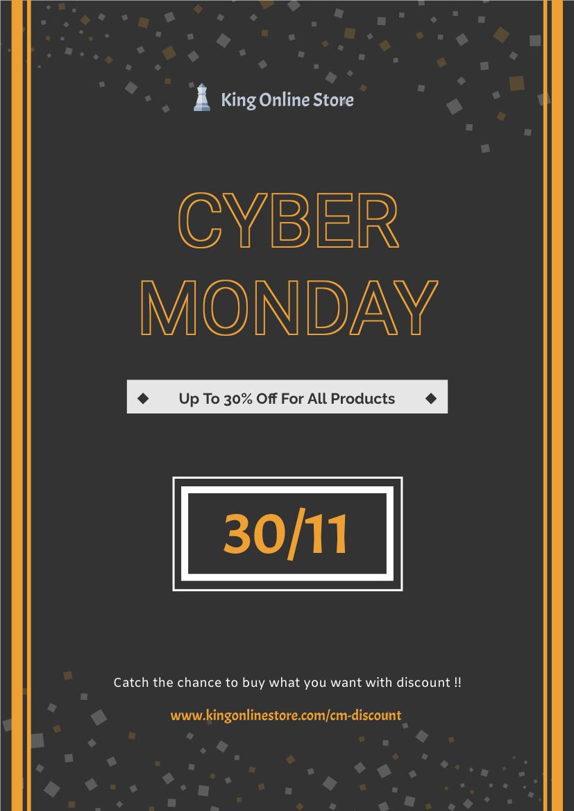 Flyer template: Cyber Monday Promotion Flyer (Created by InfoART's Flyer maker)