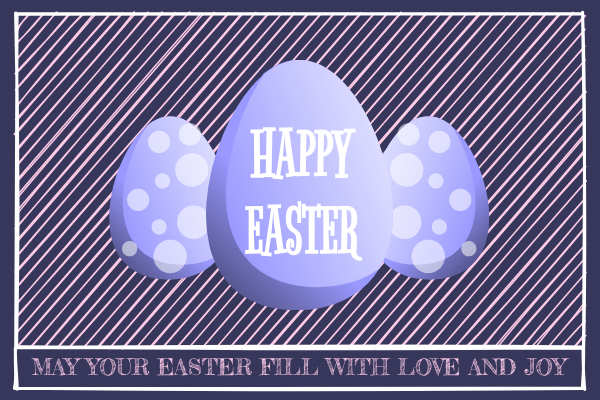 Greeting Card template: Easter Egg Greeting Card (Created by InfoART's Greeting Card maker)