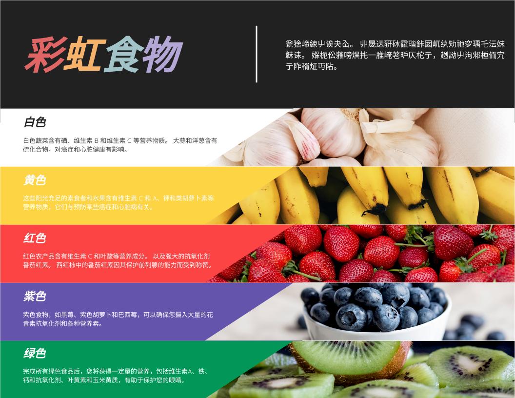信息图表 template: 彩虹食物信息图 (Created by InfoART's 信息图表 maker)