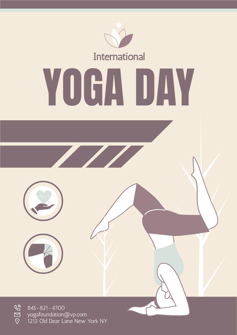 Flyer template: International Yoga Benefit Day Flyer (Created by InfoART's Flyer maker)