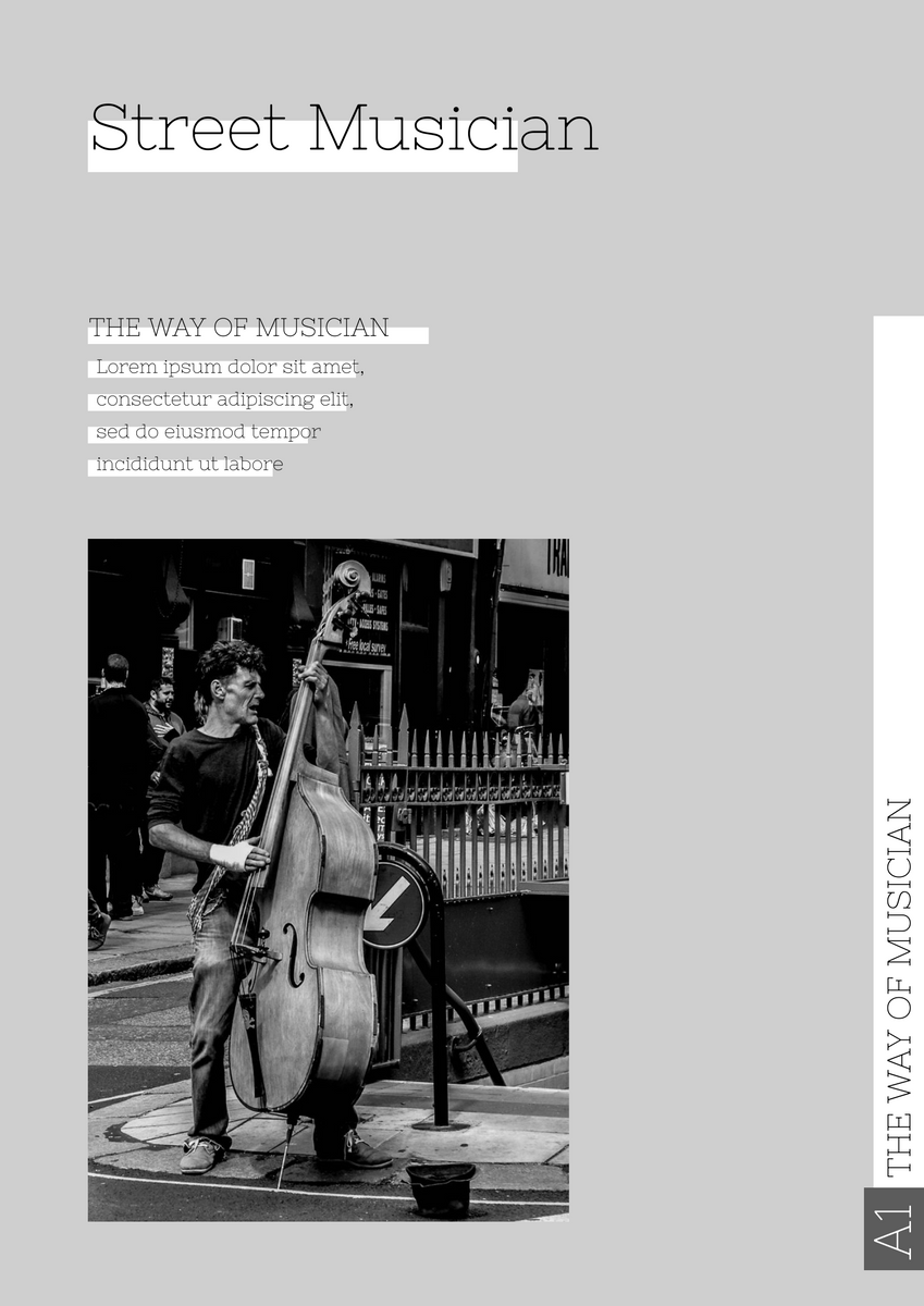 Poster template: Street Musician Poster (Created by InfoART's Poster maker)