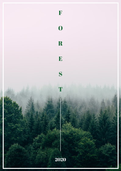 Post Card template: Forest Post Cards (Created by InfoART's Post Card marker)