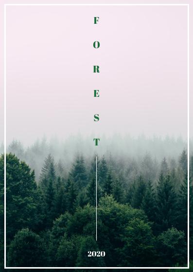 Postcard template: Forest Postcard (Created by InfoART's Postcard maker)