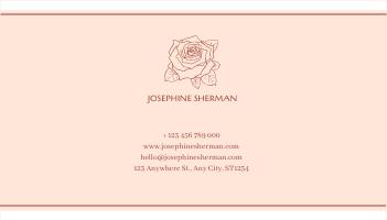 Business Card template: Blossom Pink Floral Photo Business Card (Created by InfoART's Business Card maker)