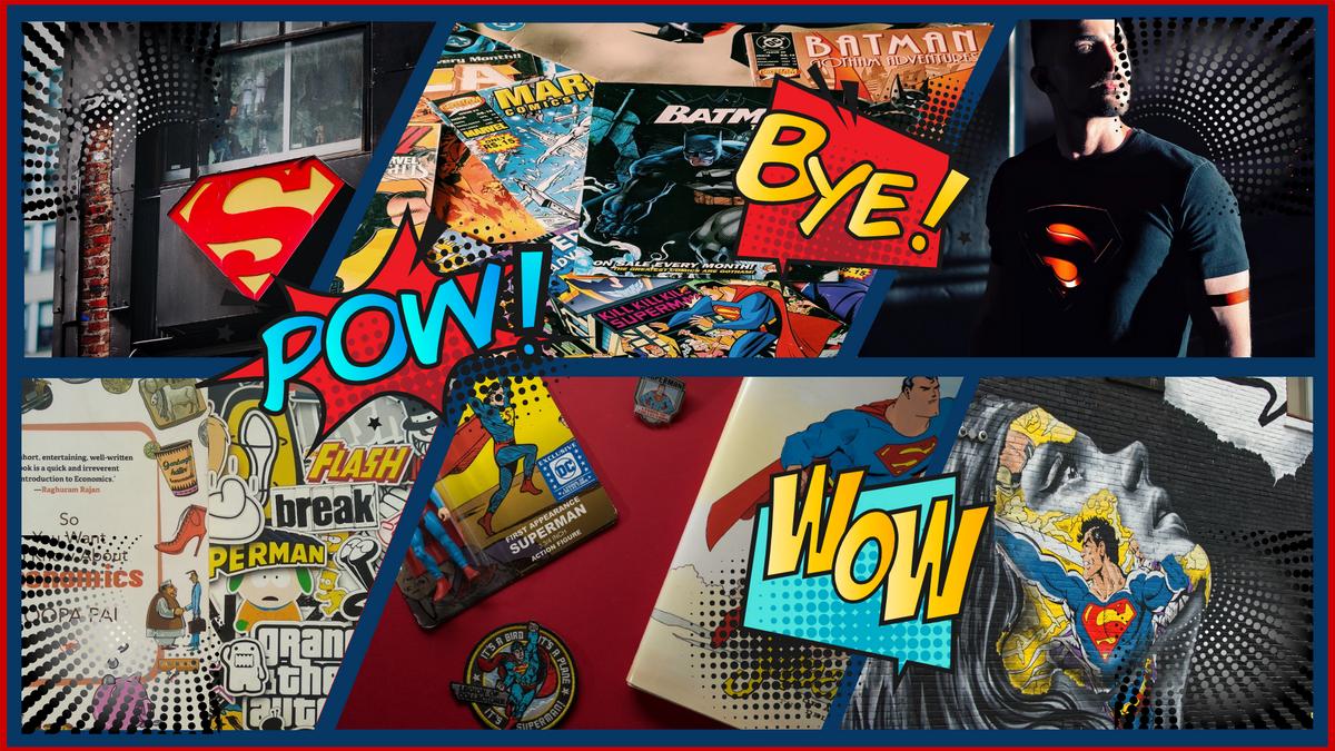 Comic Strip template: Superman Comic Strip (Created by Collage's Comic Strip maker)