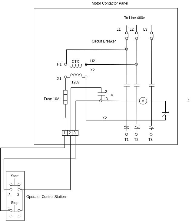 Motor Starter Wiring Diagram Template, Motor Starter Wiring Diagram